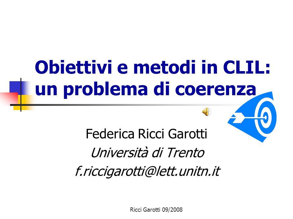 Obiettivi e metodi in CLIL: un problema di coerenza