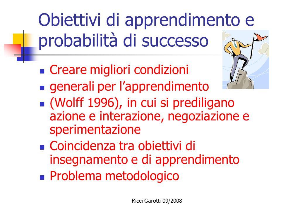 Obiettivi di apprendimento e probabilità di successo
