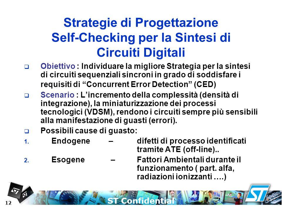 Strategie di Progettazione Self-Checking per la Sintesi di Circuiti Digitali