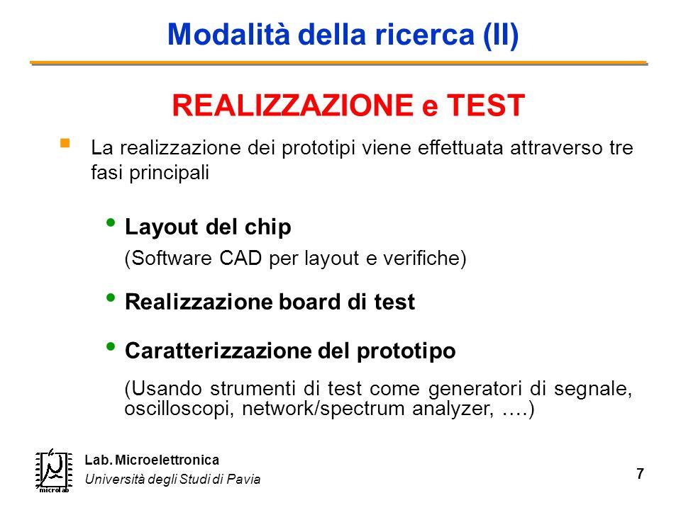 Modalità della ricerca (II)