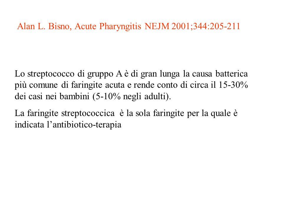 Alan L. Bisno, Acute Pharyngitis NEJM 2001;344:205-211