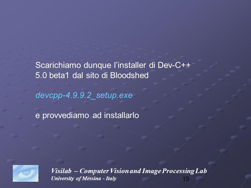 Scarichiamo dunque l'installer di Dev-C++