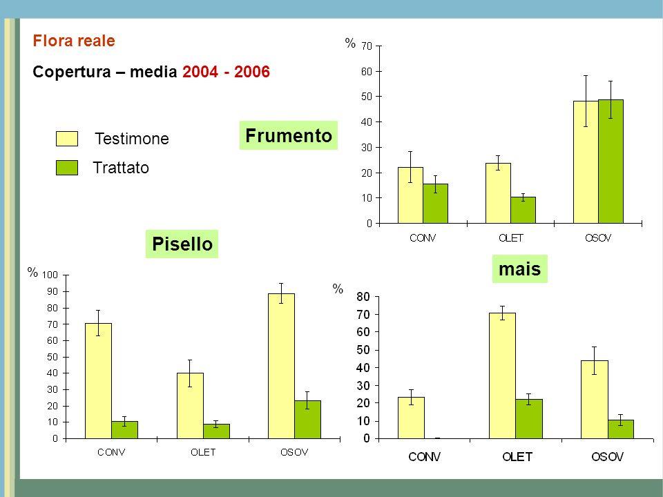 Frumento Pisello mais Flora reale Copertura – media 2004 - 2006