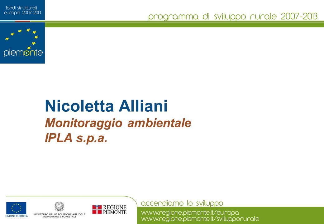 Nicoletta Alliani Monitoraggio ambientale IPLA s.p.a.