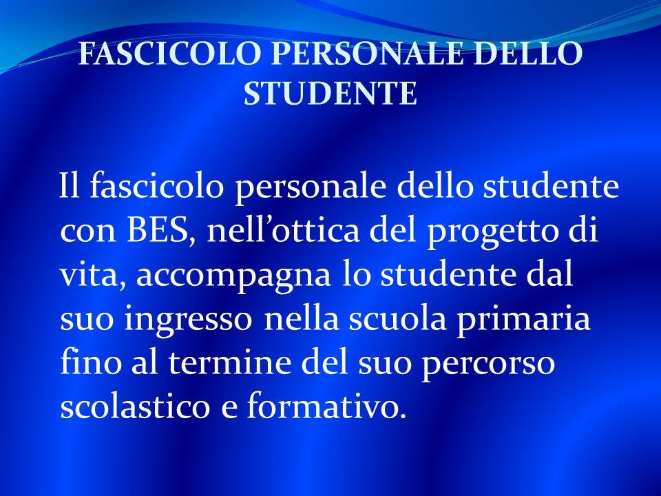 FASCICOLO PERSONALE DELLO STUDENTE