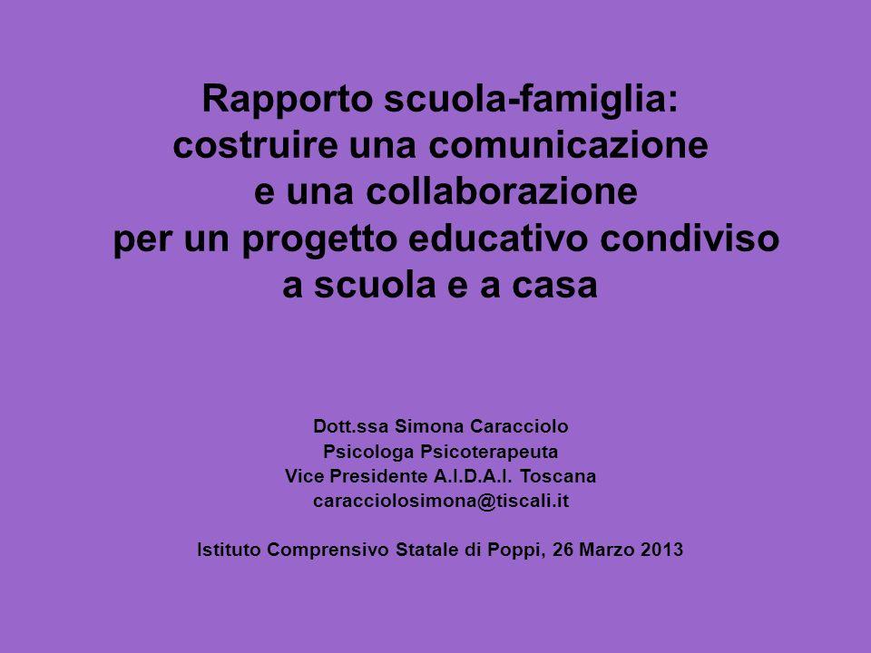 Rapporto scuola-famiglia: costruire una comunicazione
