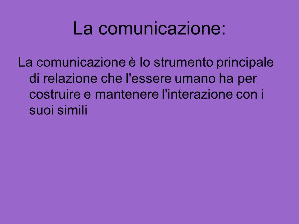 La comunicazione:
