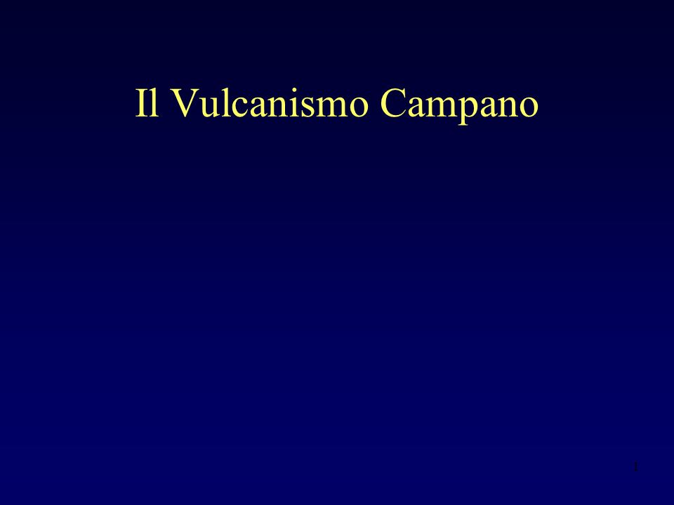 Il Vulcanismo Campano
