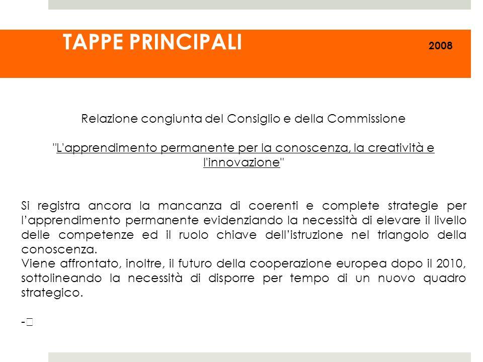 Relazione congiunta del Consiglio e della Commissione
