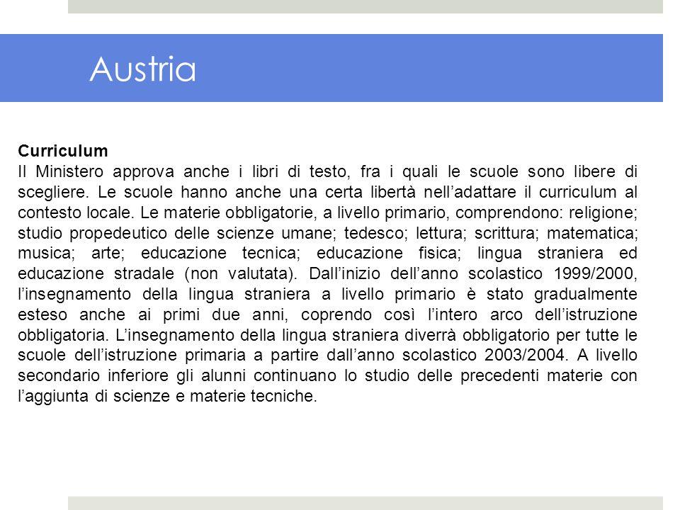 Austria Curriculum.