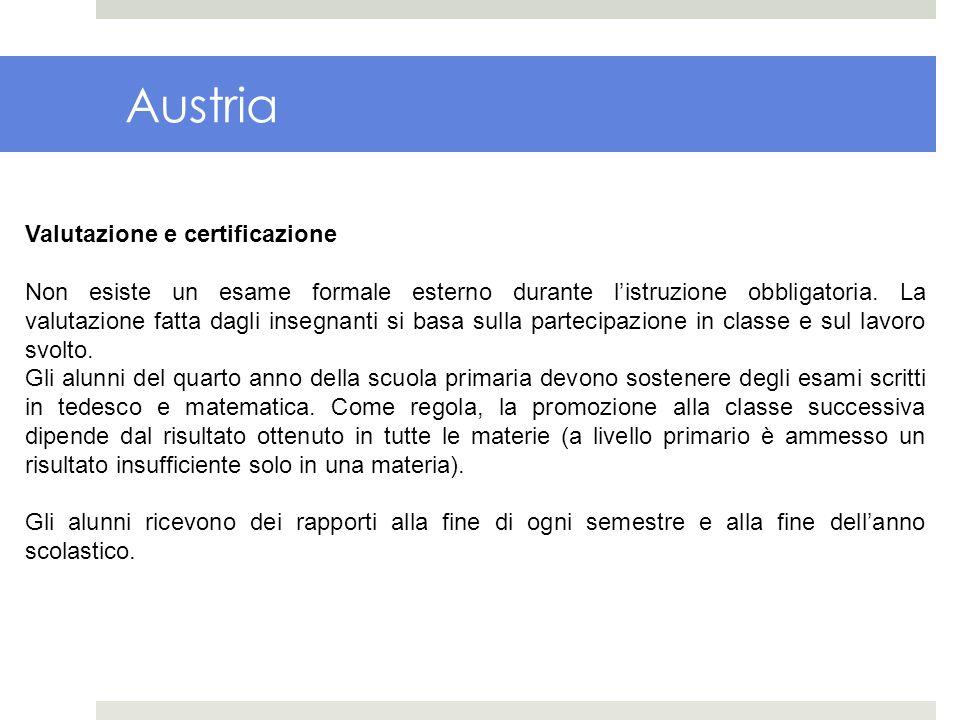 Austria Valutazione e certificazione