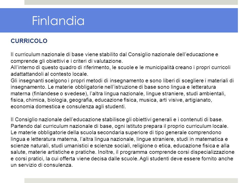 Finlandia CURRICOLO.