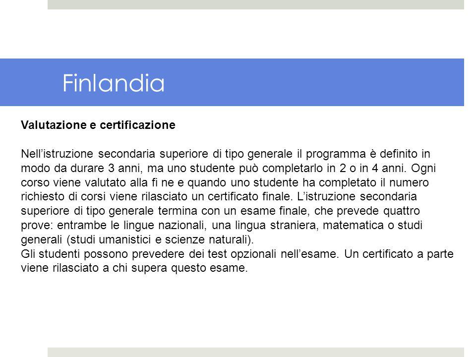 Finlandia Valutazione e certificazione