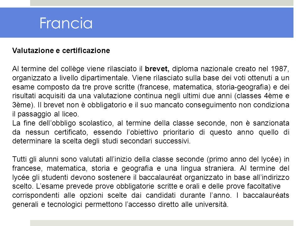 Francia Valutazione e certificazione