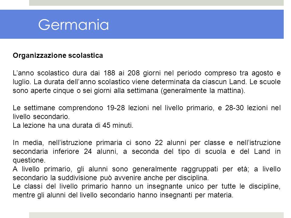 Germania Organizzazione scolastica