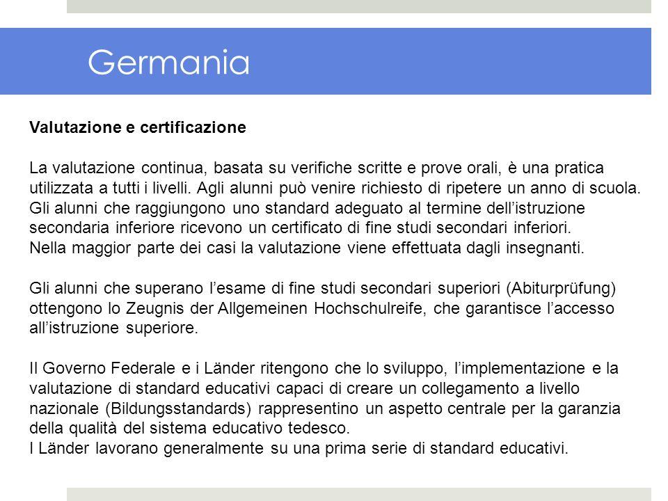 Germania Valutazione e certificazione