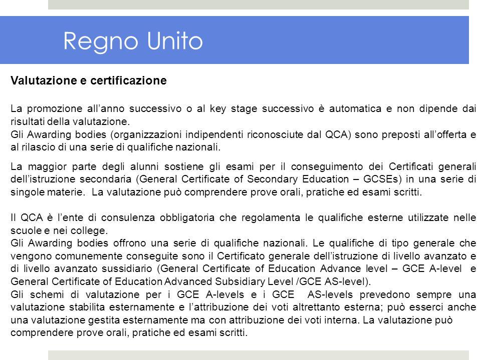 Regno Unito Valutazione e certificazione
