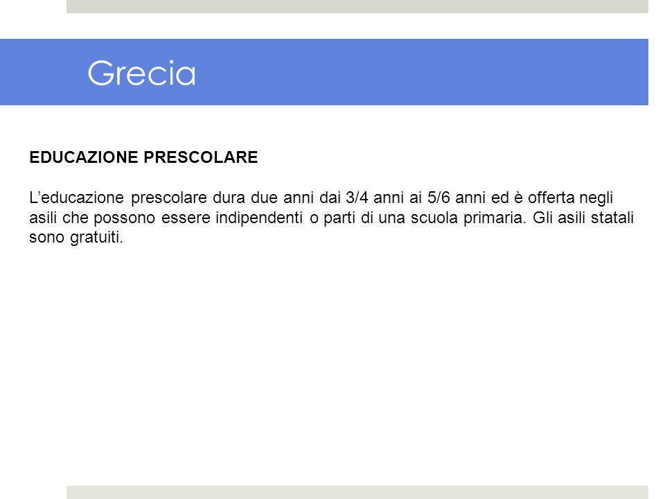 Grecia EDUCAZIONE PRESCOLARE