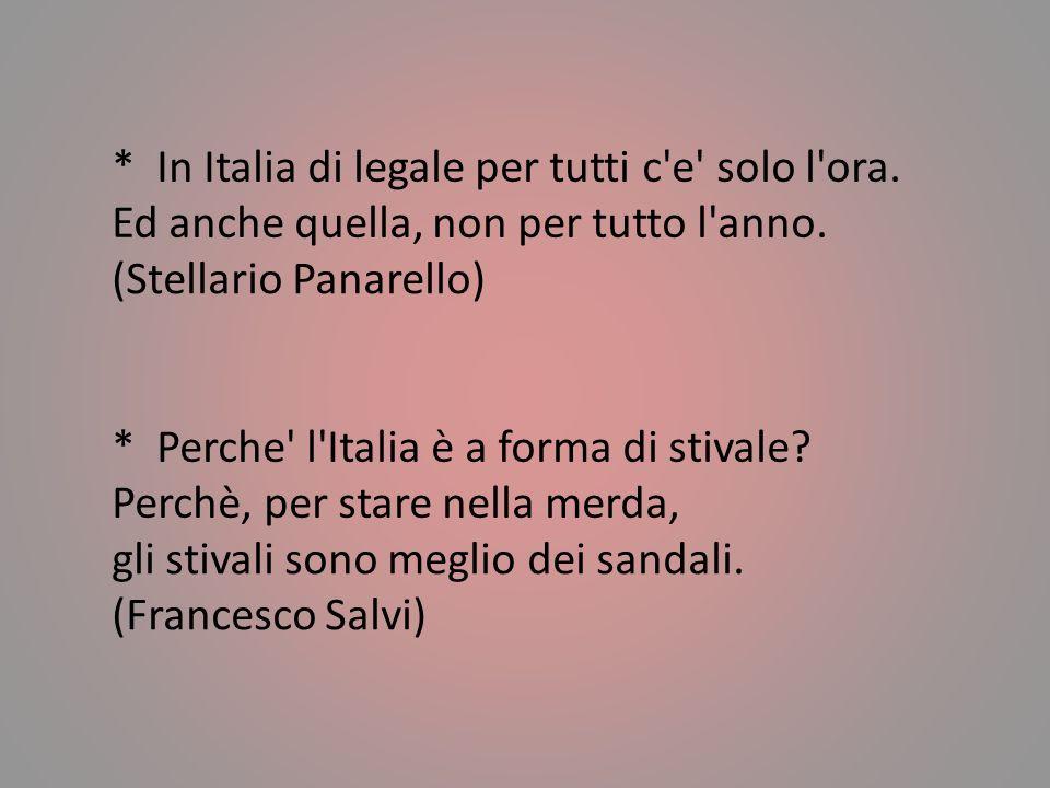In Italia di legale per tutti c e solo l ora