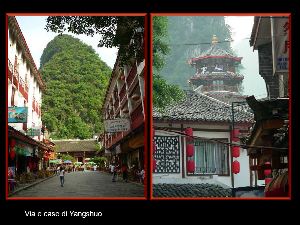 Via e case di Yangshuo