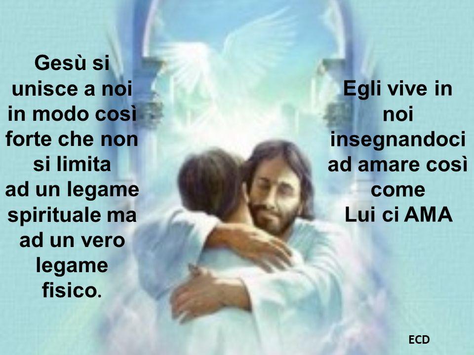 Gesù si unisce a noi in modo così forte che non si limita
