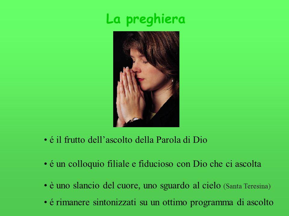 La preghiera é il frutto dell'ascolto della Parola di Dio