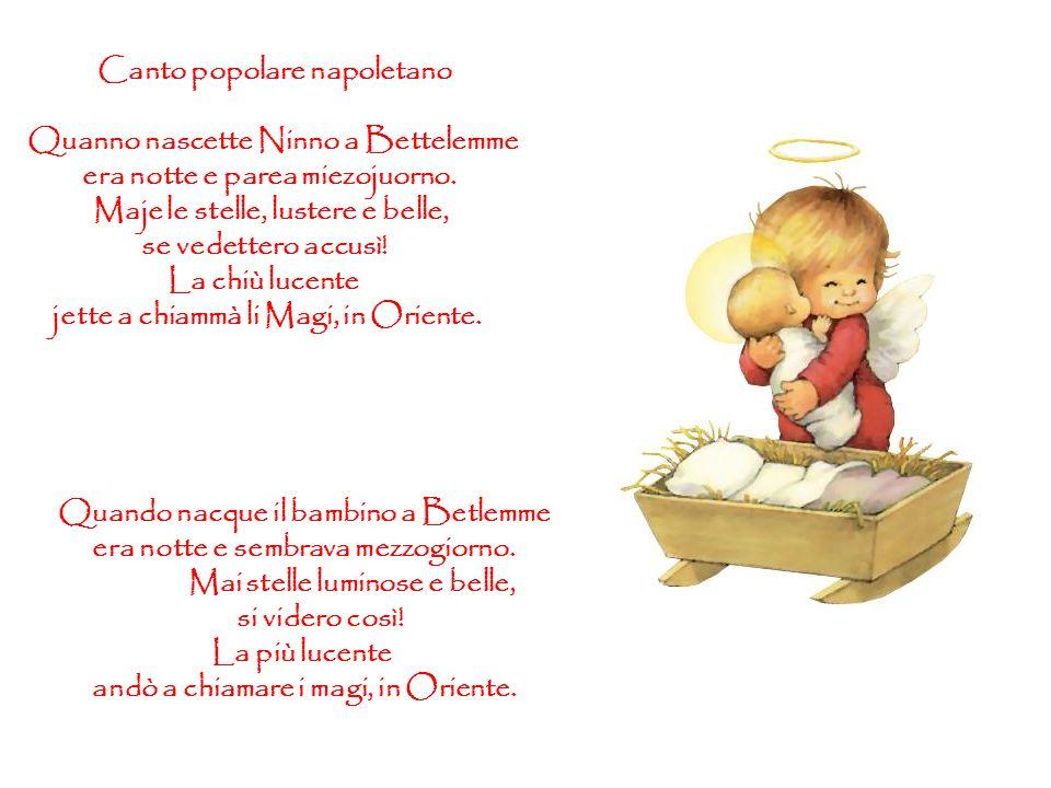 Canto popolare napoletano Quanno nascette Ninno a Bettelemme