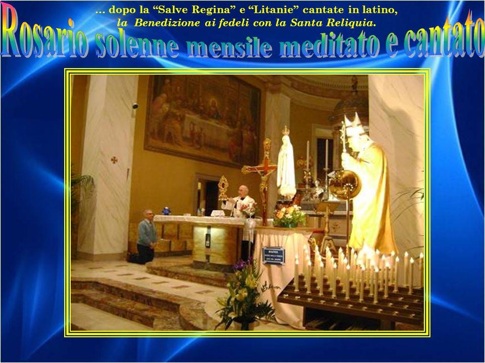 Rosario solenne mensile meditato e cantato
