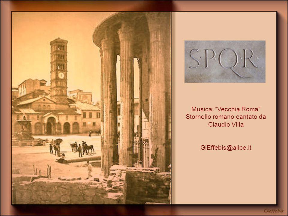 Musica: Vecchia Roma Stornello romano cantato da Claudio Villa