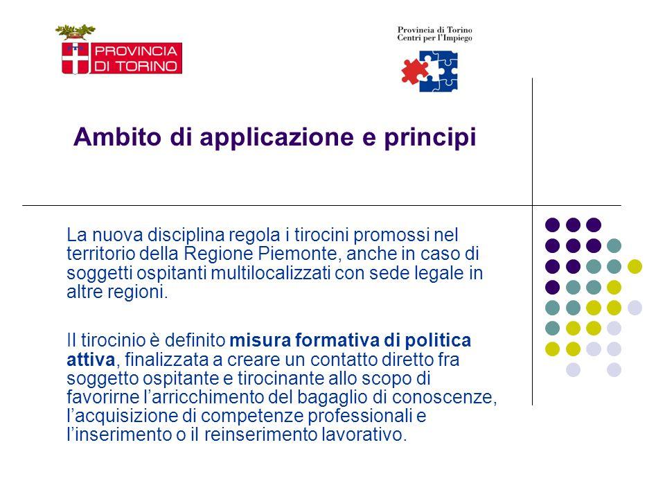 Ambito di applicazione e principi