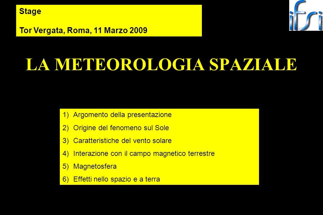 LA METEOROLOGIA SPAZIALE