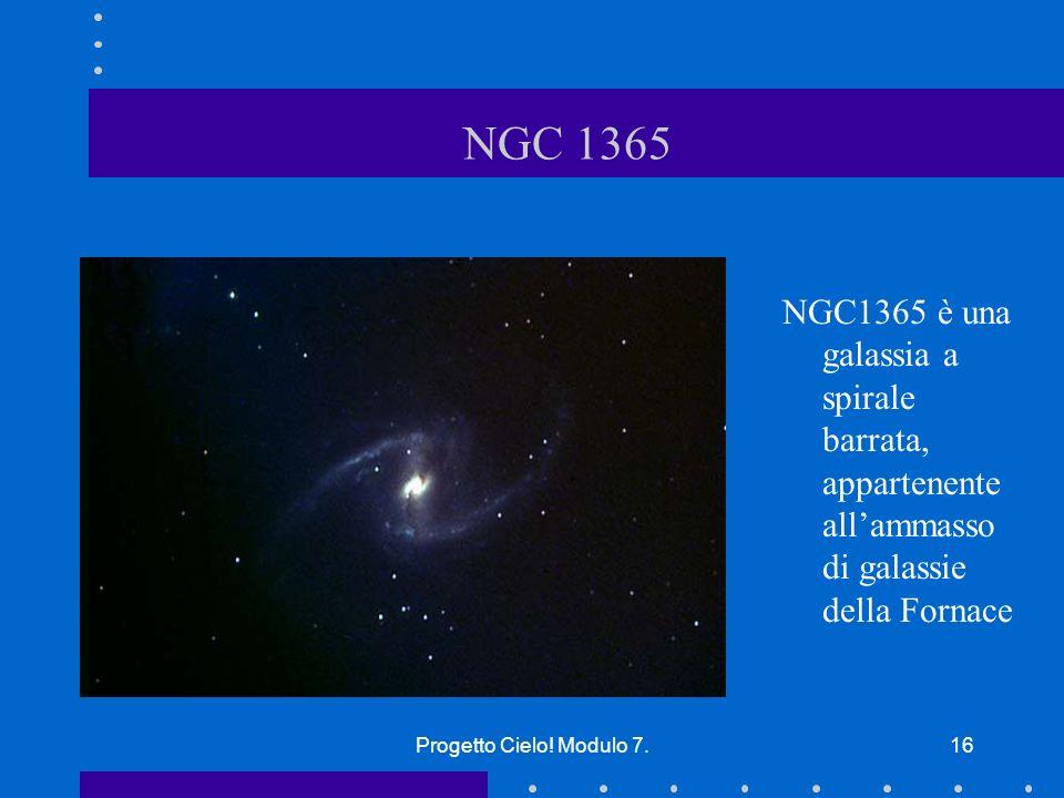 NGC 1365 NGC1365 è una galassia a spirale barrata, appartenente all'ammasso di galassie della Fornace.