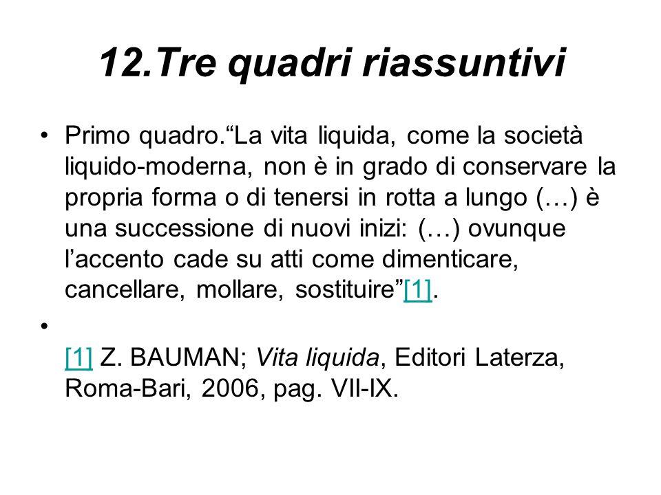 12.Tre quadri riassuntivi