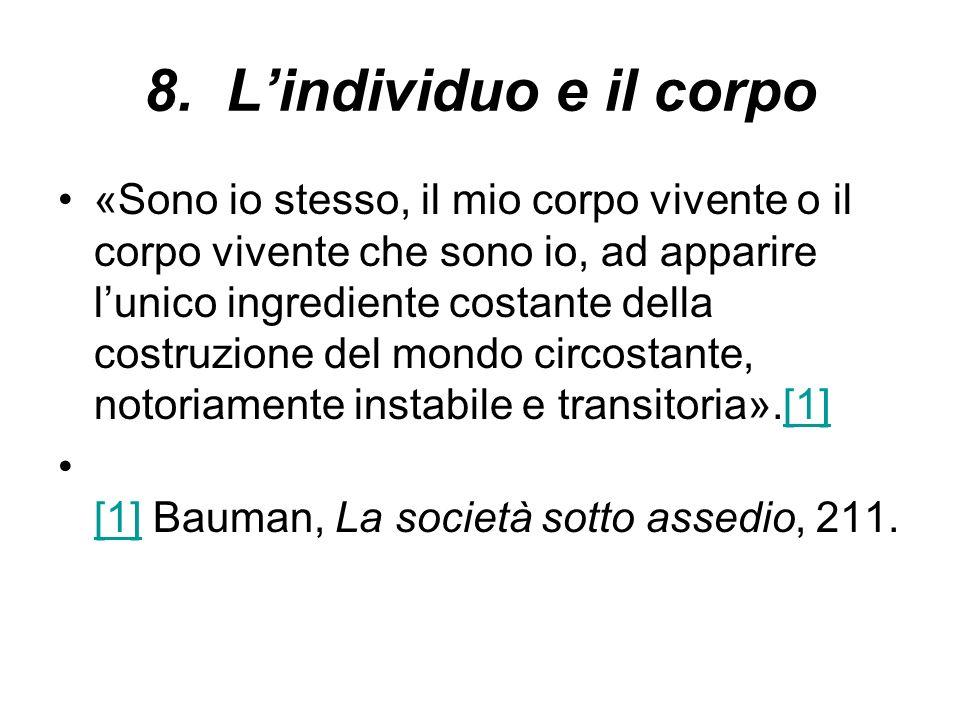 8. L'individuo e il corpo