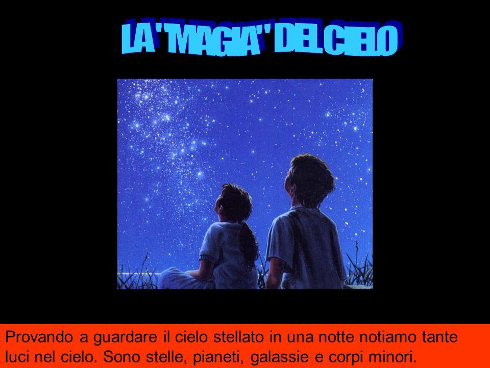LA MAGIA DEL CIELO Provando a guardare il cielo stellato in una notte notiamo tante luci nel cielo.