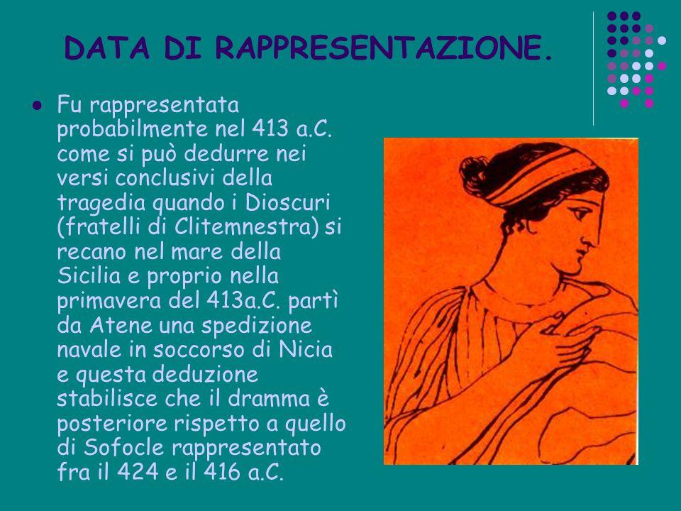 DATA DI RAPPRESENTAZIONE.