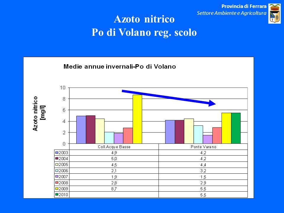 Azoto nitrico Po di Volano reg. scolo