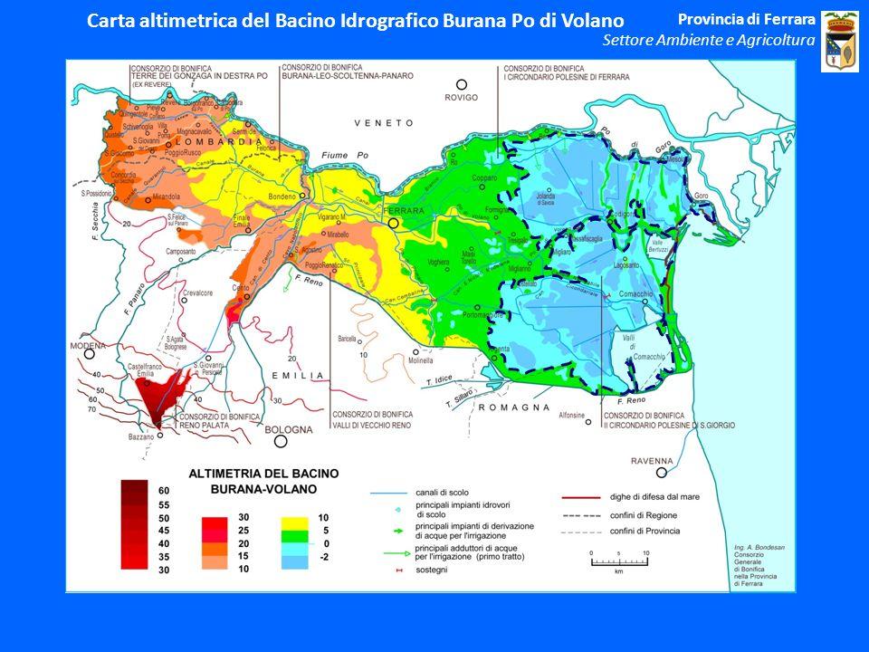 Carta altimetrica del Bacino Idrografico Burana Po di Volano