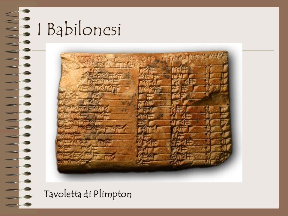 I Babilonesi Tavoletta di Plimpton