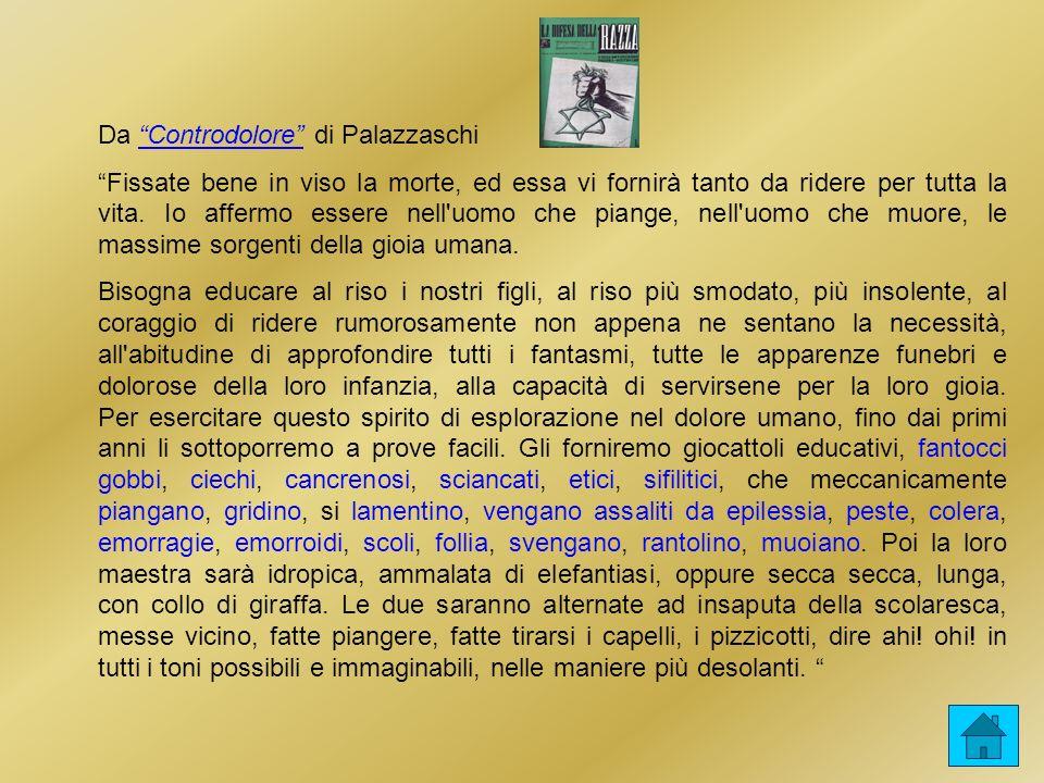 Da Controdolore di Palazzaschi