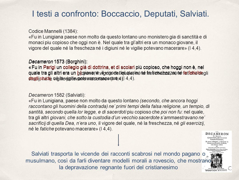I testi a confronto: Boccaccio, Deputati, Salviati.