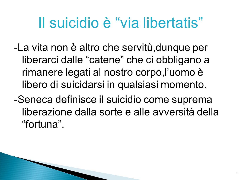 Il suicidio è via libertatis