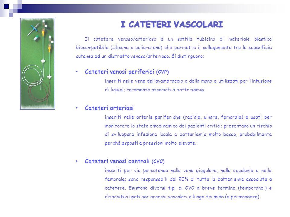 I CATETERI VASCOLARI Cateteri venosi periferici (CVP)