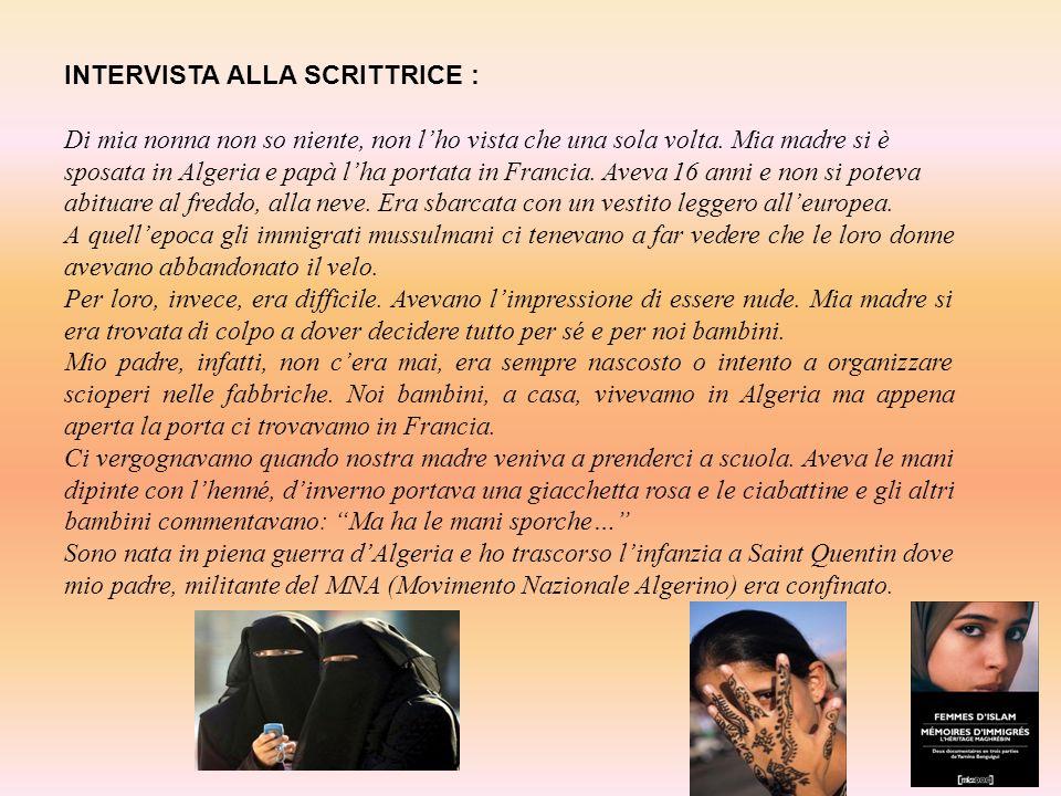 INTERVISTA ALLA SCRITTRICE :