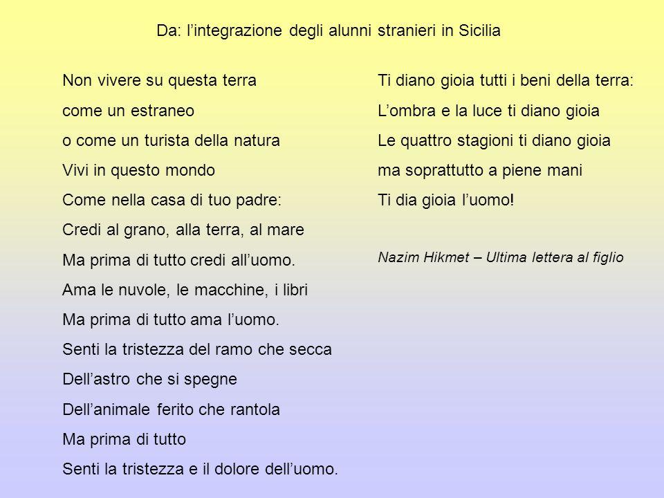 Da: l'integrazione degli alunni stranieri in Sicilia