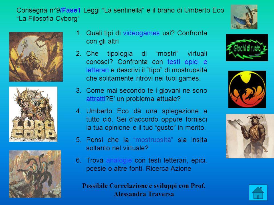 Possibile Correlazione e sviluppi con Prof. Alessandra Traversa