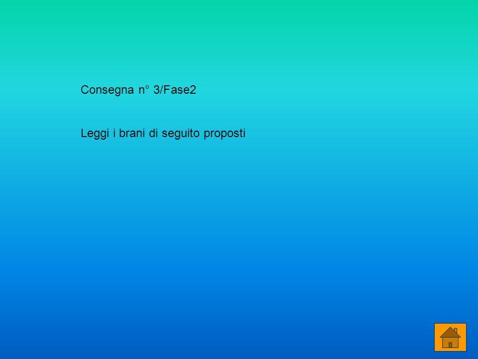 Consegna n° 3/Fase2 Leggi i brani di seguito proposti