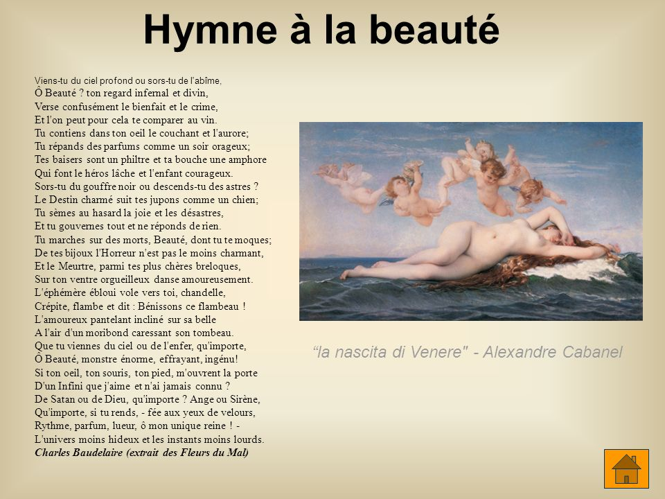 Hymne à la beauté Hymne à la beauté