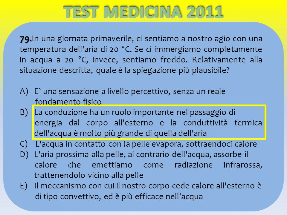 TEST MEDICINA 2011