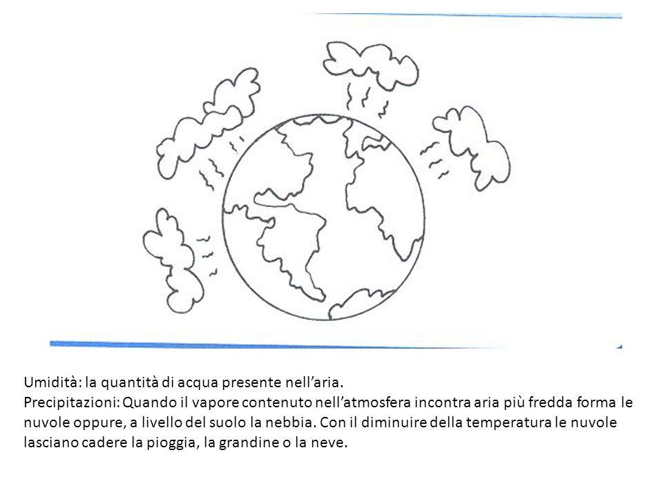 Umidità: la quantità di acqua presente nell'aria.